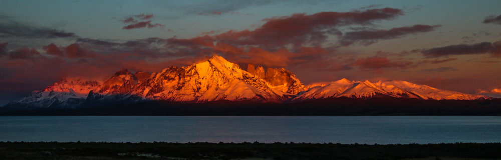 Sunrise showing the Paine Massif - Adrian Hill