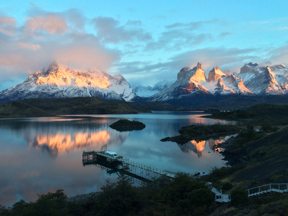 View from explora Torres del Paine- Chile by Peter Carlisle