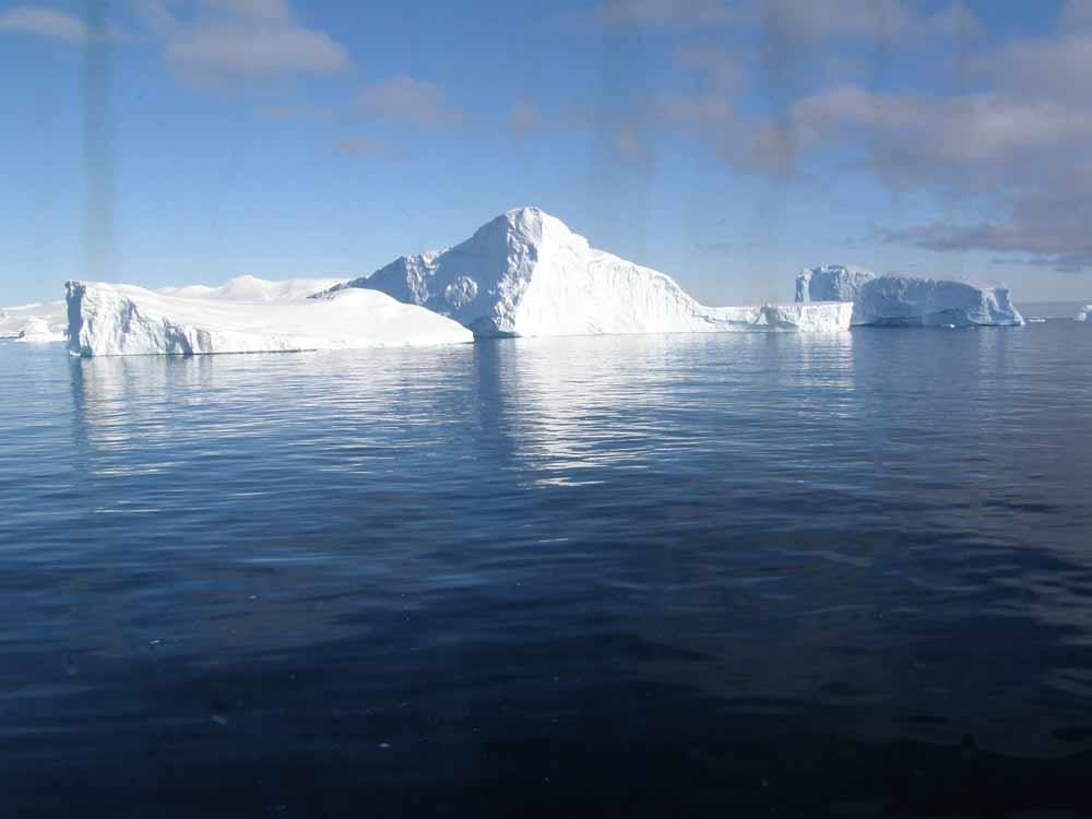 Icebergs in Antarctica by Diane Matthews