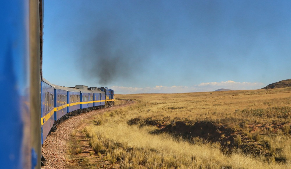 Train Cusco to Puno by Youlla Kyriacou
