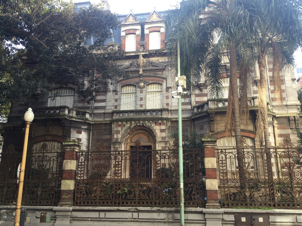 Old and New in Buenos Aires - Old wonderfully architectured building, new motion-detecting cameras by Rod Palmer