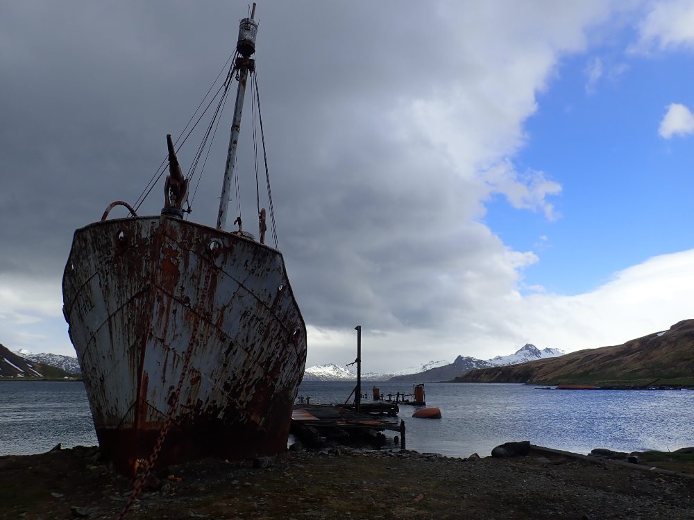 Whaling boat at Grytviken, South Georgia Island by Chris James
